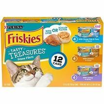 Premium Purina Friskies Tasty Treasures Adult Wet Cat Food Variety (12) ... - $10.39