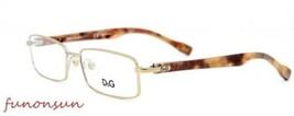 Dolce & Gabbana Unisex Brille D&g DD5094 1060 Gold Rechteckig Rahmen - $87.21