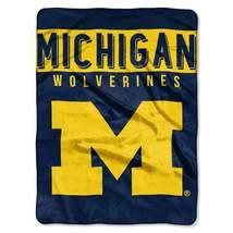 Michigan Wolverines Blanket 60x80 Raschel Basic Design - $62.71 CAD