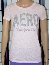 AEROPOSTALE Girls Junior Women's Pink/Gray New York City Top/Shirt Size ... - $8.79