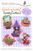 Stitch A Little: Spooky Critters I artpack halloween cross stitch Brooke... - $11.70