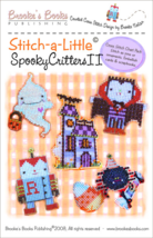 Stitch A Little:Spooky Critters II artpack halloween cross stitch Brooke... - $11.70
