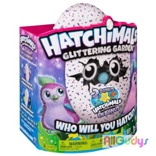 Hatchimals Glittering Garden & 2 Bonus Colleggtible Figures NEW