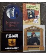 4 Leonardo Da Vinci books Leonardo's Horse signed, What Makes a Leonardo a  - $12.99