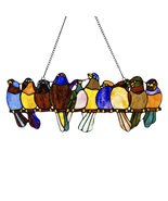 "River of Goods Birds on a Wire Window Panel Stained Glass 9.25"" - $59.34"