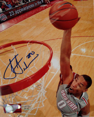 Jared Sullinger signed Ohio State Buckeyes 8x10 Photo