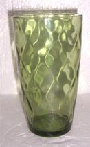 VINTAGE (1) Extra Large Anchor Hocking Green Color Pressed Glass Tumbler - $21.99