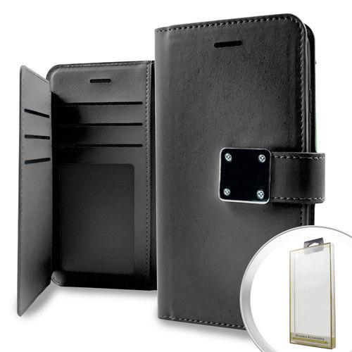 LG Aristo/ MS210 LV3/ K8 2017/ Phoenix 3 Deluxe Wallet w/ Blister Case Cover