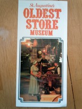 Oldest Store Museum St. Augustine Florida Brochure  - $3.99