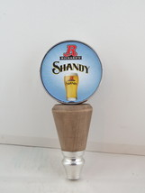 Rickard's Shandy Bar Tap - Wood Body with Metal Base and Top with Paper Ad - $35.00