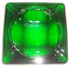 Vintage Depression Bottle Green Anchor Hocking Glass Ashtray - $24.75