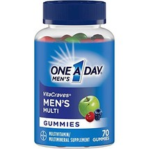 One A Day VitaCraves Men's Multi Gummies, 70 Count Pack of 2