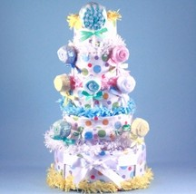LOLLIPOP DIAPER CAKE BABY GIRL GIFT - $128.00