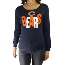 NFL Youth Girls XL or Womens XS Chicago Bears Blue Hearts Pullover Sweat... - $19.80