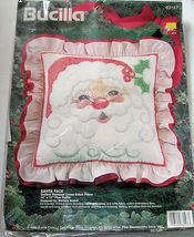 Bucilla Santa Face Pillow Cross Stitch Kit Complete '94 - $14.99
