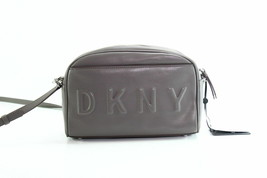 DKNY $128 NWT Tilly Logo Embossed Stone Grey Camera Bag Crossbody Zip Ar... - $62.57