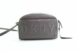 DKNY $128 NWT Tilly Logo Embossed Stone Grey Camera Bag Crossbody Zip Ar... - $62.57