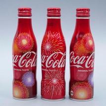 Hanabi 2017 & 2 Hanabi 2018 Coca Cola Aluminum Full bottle 3 250ml Japan Limited - $38.61