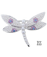 Dragon Butterfly Brooch Lapel Pin Pearl  - $19.95