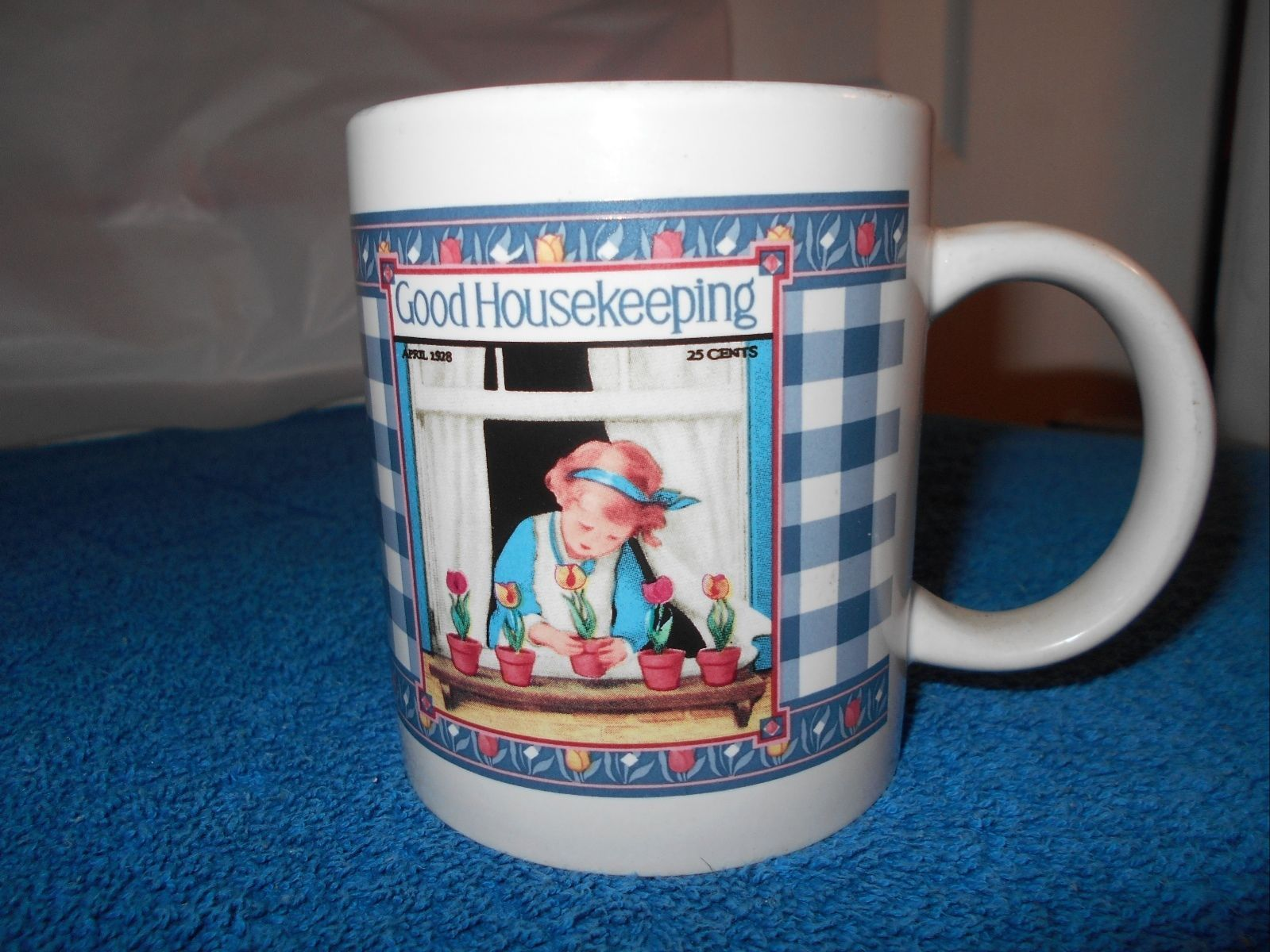 "Primary image for Good Housekeeping Coffee Cup Mug 3.75"" tall x 3.25 Diam"
