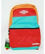 "Umbro 18"" Colorblock Backpack Color Block Multi-Colored Soccer School Ba... - $14.24"