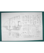 STEAM ENGINE 25 inch Cylinder 5 Strokes & Details - c. 1835 Fine Quality... - $19.89