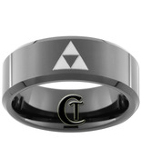 8mm Black Tungsten Carbide Band Beveled Legend ... - $49.00