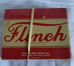 1938 Flinch Card Game Parker Brothers Overall Good Missing Instructions - $16.69