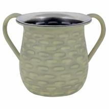 Judaica Hand Wash Cup Netilat Yadayim Last Water Natla Gray Net Design