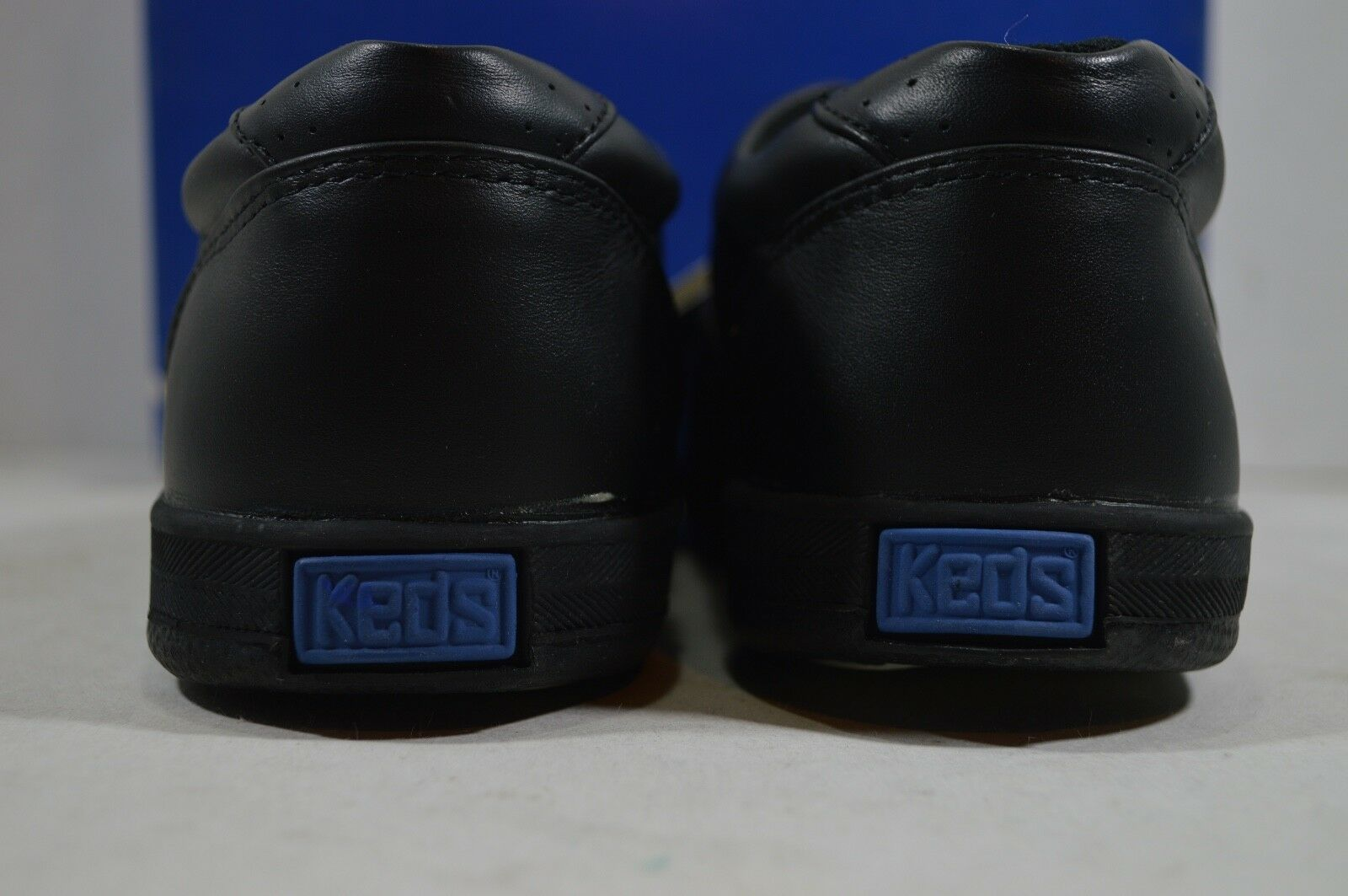 Vintage 90s New Keds Womens 6 Champion Walker Leather Lace Up Shoes Black