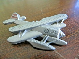 D-11 FLOAT PLANE,BIPLANE  LOOK ON THE WING HARD PLASTIC VERY OLD AIRPLANE - $9.72