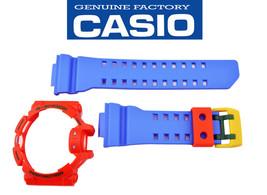 Genuine Casio G-Shock  GA400-4A Blue Watch Band & Orange Bezel Rubber Set  - $38.95