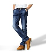 Men's Business Jeans Classic Leisure Solid Jeans Straight Pants Hot Sale... - $36.82