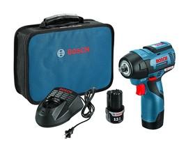 "Bosch 12V Max 3/8"" Impact Wrench Kit, EC Brushless, PS82-02 - $199.00"