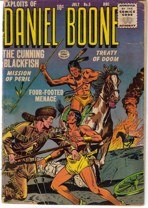 Quality Comics Exploits Of Daniel Boone #5 Cunning Blackfish Western Adventure