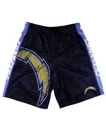 San Diego Chargers Big Logo Men's Polyester Athletic Shorts - Size Small - $34.95