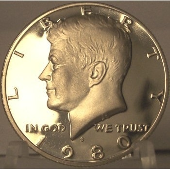 Primary image for 1980-S Deep Cameo Proof Kennedy Clad Half Dollar #0857