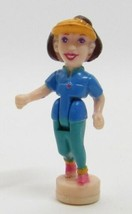 1998 Polly Pocket Doll Action Park Cycling - Lila Bluebird Toys - $7.50