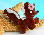 Vintage california redwood burl skunk brooch pin wood carved thumb155 crop