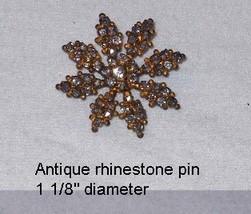 Antique Paste Rhinestone Pin - $8.50