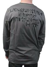 Dunkelvolk Mens Gray Trulo Peruvian Art Breathing Life In Long Sleeve T-Shirt NW image 3