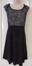 Apt. 9® Lace Fit & Flare Ponte Dress - Women's Black Tie Sz. 4 NWT MSRP$... - $24.64