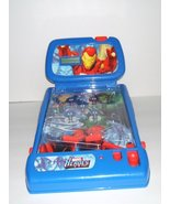 Marvel Heroes Mini Pinball with Flashing Lights Music and Removable Back... - $44.95