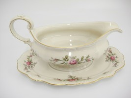 Rosenthal Antoinette Moss Rose Gravy Boat Attached Underplate Pompadour ... - $39.59