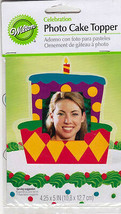 WILTON Photo Cake Topper CELEBRATION Cake Theme NIP Sealed Great for Scr... - $4.94