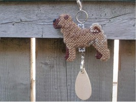 Chinese Shar-Pei dog crate tag, kennel art or home decor, handmade needl... - $18.00