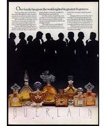 Guerlain Perfumes 8 Great Fragrances Silhouette 1978 Bottles Photo Ad - $14.99