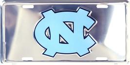 North Carolina Tar Heels Chrome Metal License Plate Auto Tag Sign - $6.95