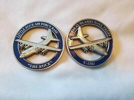 "LITTLE ROCK AIR FORCE BASE C-130J THE ROCK 1.75"" CHALLENGE COIN  - $17.09"