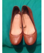 MOSSIMO ONA COGNAC Brown Ballet Flats Women's Shoes 6.5M Round Toe Vegan... - $19.34
